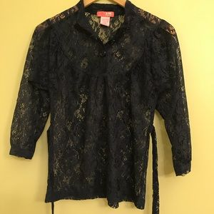 Anthropologie Lux Lace Top, XS